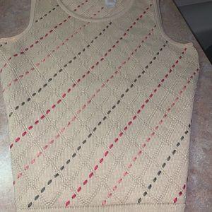 Liz Claiborne ladies sweater top SS size PET NEW